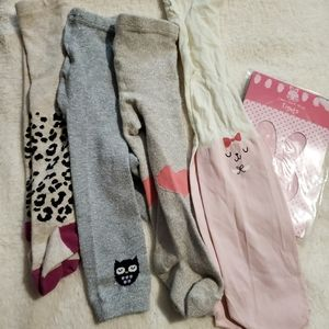 Girl's 6-12 month tights Lot - 5 items